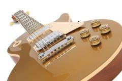 Elektrische Gitaar (Gibson Les Paul Gold Top) Stock Foto