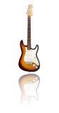 Elektrische gitaar met bezinning, zonnestraal Royalty-vrije Stock Foto's
