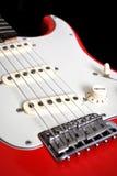 Elektrische gitaar rode stijl Stock Foto's