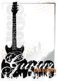 Elektrische gitaarachtergrond Stock Foto's
