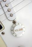 Elektrische gitaarclose-up Stock Foto's