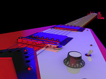Elektrische gitaarclose-up Royalty-vrije Stock Afbeelding