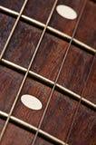 Elektrische gitaarhals Stock Foto
