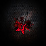 Elektrische gitaarillustratie Stock Foto's