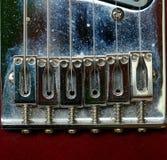 Elektrische gitaarkoorden en brug Stock Afbeelding