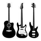 Elektrische gitaarvector Royalty-vrije Stock Foto's