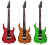 Elektrische gitaren die op wit worden geïsoleerdi Stock Fotografie