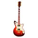 Elektrische Gitarre auf weißem Hintergrund Lizenzfreies Stockbild
