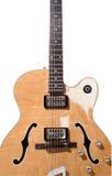 Elektrische Gitarre der hohlen Karosserie Stockfotos