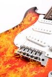 Elektrische Gitarre des Feuers Lizenzfreie Stockfotos