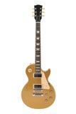 Elektrische Gitarre (Gibson Les Paul Goldoberseite) Stockfotografie