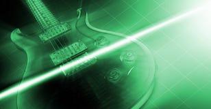 Elektrische Gitarre und Strahl der Leuchte Lizenzfreies Stockbild