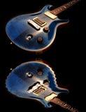 Elektrische Gitarre und Wasser Lizenzfreies Stockbild