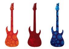 Elektrische Gitarren Stockbild