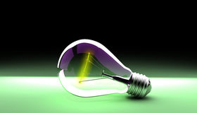 Elektrische gloeilamp Royalty-vrije Stock Afbeeldingen
