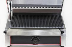 Elektrische grill voor het koken van voedsel stock fotografie