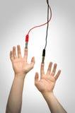 Elektrische handen royalty-vrije stock afbeelding