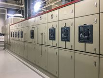 Elektrische Hauptverteilung stockbild