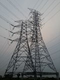 Elektrische Hochspannungsleitung Lizenzfreies Stockbild