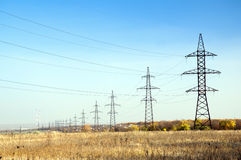 Elektrische hoogspanning Royalty-vrije Stock Afbeelding