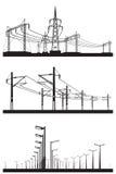 Elektrische Installationen eingestellt Stockbilder