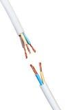 Elektrische kabel Stock Afbeelding