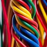 Elektrische kabel Royalty-vrije Stock Foto
