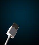 Elektrische kabel met exemplaarruimte Stock Foto