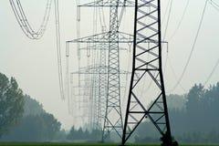Elektrische kabels Stock Afbeelding