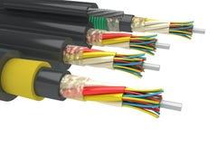 Elektrische kabels Royalty-vrije Stock Afbeelding