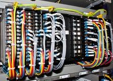 Elektrische kabelsverbindingen stock afbeelding