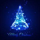 Elektrische Kerstmisboom Stock Foto