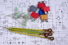 Elektrische Komponenten Lizenzfreie Stockfotos