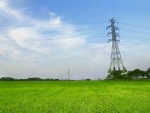 Elektrische Kontrolltürme stockbild