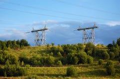 Elektrische Kontrolltürme Lizenzfreie Stockfotos