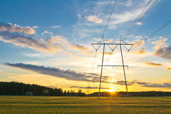 Elektrische Kontrolltürme Lizenzfreies Stockbild