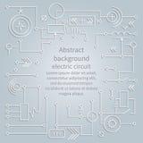 Elektrische kring als achtergrond, vector Royalty-vrije Stock Afbeeldingen