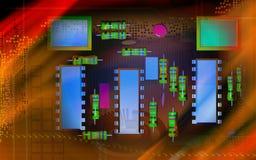 Elektrische kringsraad stock illustratie