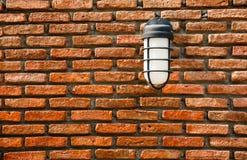 Elektrische lamp op muur Royalty-vrije Stock Afbeelding