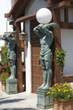 Elektrische Lampen der Statue stockbilder