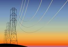 Elektrische leiding vector illustratie