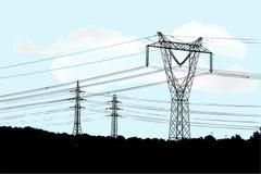 Elektrische leiding Stock Foto's