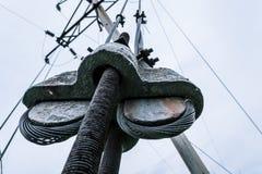 Elektrische Leitung E stockbild