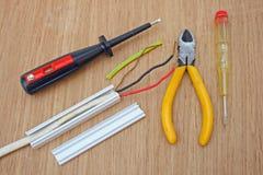 Elektrische Leitungen Stockfotos