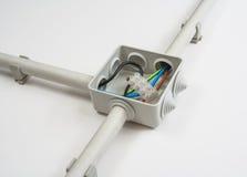 Elektrische Leitungen Stockbild