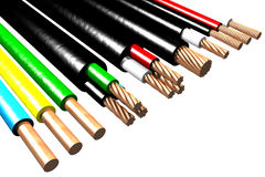 Elektrische Leitungen (3D) Stockfotos