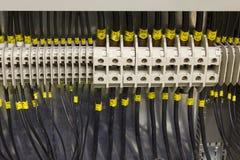 Elektrische Leitungen und Terminals. Lizenzfreie Stockfotografie