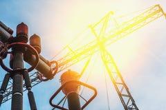 elektrische lijn met hoog voltage royalty-vrije stock afbeelding