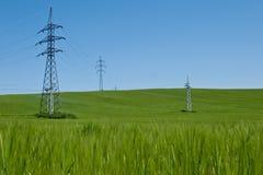 Elektrische lijnen Stock Afbeelding