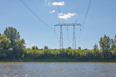 Elektrische lijnen Royalty-vrije Stock Fotografie